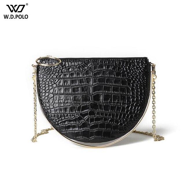New Women Genuine Leather Shoulder Bag Fashion Small Size Lady Purse Trendy  Chain Female Crossbody Bag Q058 3052c96cd1