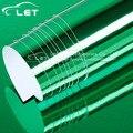 Высокая гибкая растягивающаяся зеленая водонепроницаемая защита от УФ-лучей зеленая хромированная зеркальная виниловая оберточная пленк...