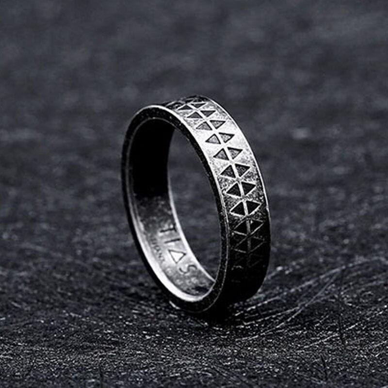 Punk Schmuck National Totem Rabe Begraebnis Haar Ring T3U2