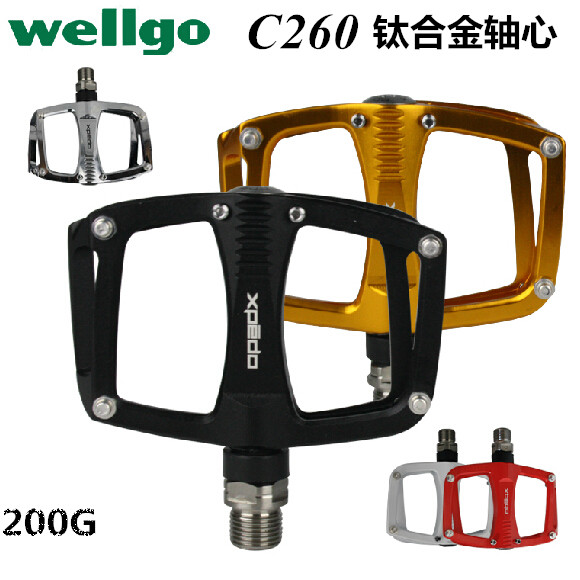Wellgo Xpedo C260 Titanium Alloy Mountain Bike Pedal MTB Bearing Ultra Light Bicycle Pedals rockbros titanium ti mtb road bike bicycle pedals pedal spindle wellgo mg1 mg 1 mg 1