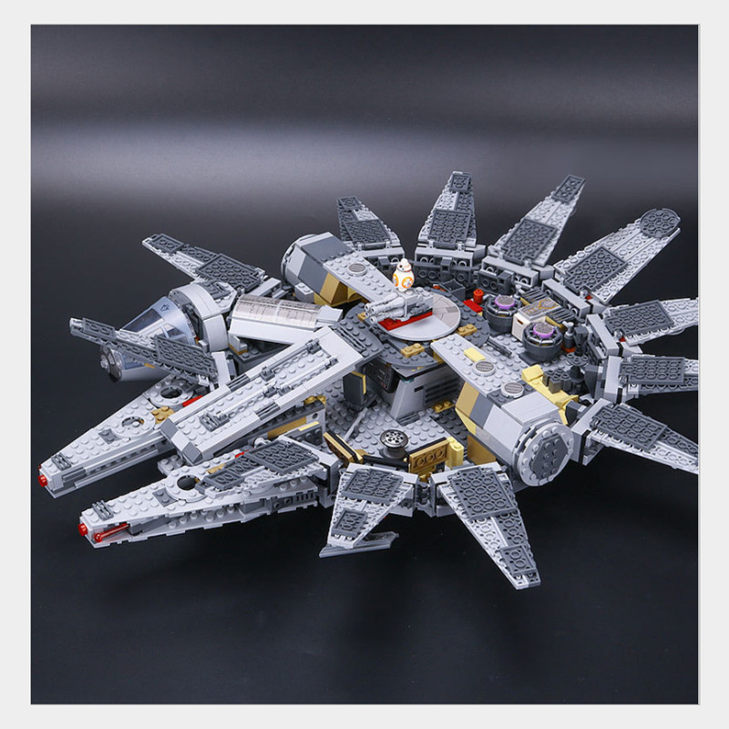 05007 Star Series Wars 1381pcs Millennium Falcon Toys Building Blocks Bricks Marvel Educational Toys Children Gifts 10467 new 5265pcs star wars ultimate collector s millennium falcon model building kits blocks bricks kids toys compatible with 10179