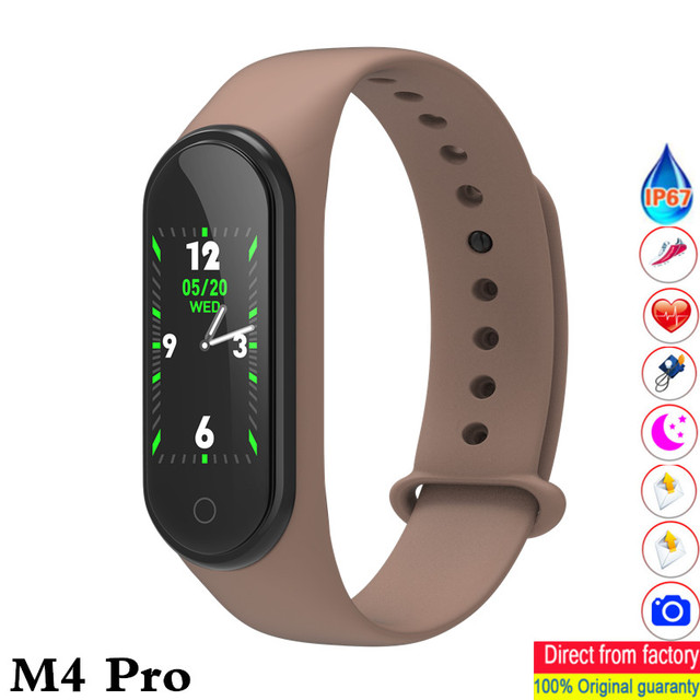 New m4 pro smart band HD 0.96 inch color screen heart rate blood pressure fitness tracker waterproof watches pk mi band 4 ID115