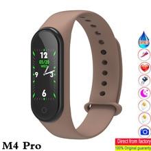 Nowy m4 pro inteligentna opaska HD 0.96 cal kolorowy ekran tętno pomiar ciśnienia krwi zegarki wodoodporne pk mi zespół 4 ID115