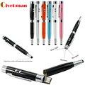 2016 Venta Caliente Pluma Láser Multifunción Modelo Usb Flash Drive Pen Drive Memory Stick Pendrive 4 GB 8 GB 16 GB 32 GB 64 GB pendrives