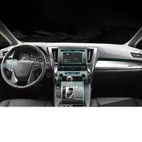 Car Sticker For Toyota transparent TPU Protective Film stickers for Toyota Alphard Interior accessories