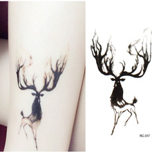 Temporary Tattoos Waterproof Tattoo Stickers Body Art Painting For Party Decoration Arm Leg Black Deer