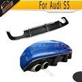 S5 JC styling carbon fiber rear bumper diffuser lip spoiler for Audi S5 bumper 2012 2013 2014 2015