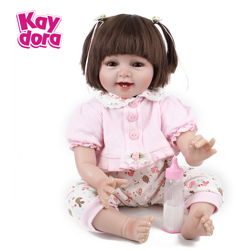 22 inch 55cm Silicone Reborn Baby Dolls Lifelike Soft Cloth Body Smile Girl Real Dolls Kids Reborn Babies Toys Birthday Gift22 inch 55cm Silicone Reborn Baby Dolls Lifelike Soft Cloth Body Smile Girl Real Dolls Kids Reborn Babies Toys Birthday Gift