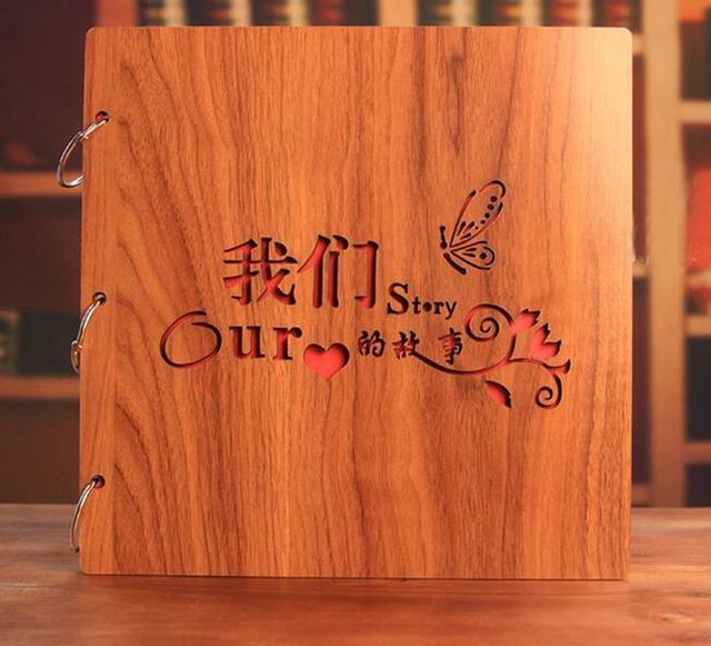 16 Inch Diy Scrapbooking Album High Quality Handmade Wooden