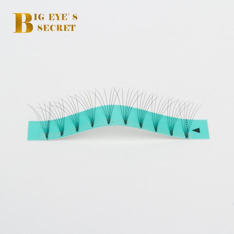 Big eye s secret 10 trays lot 3D4D5D6D Short Stem Pre Made Volume fans Faux Mink
