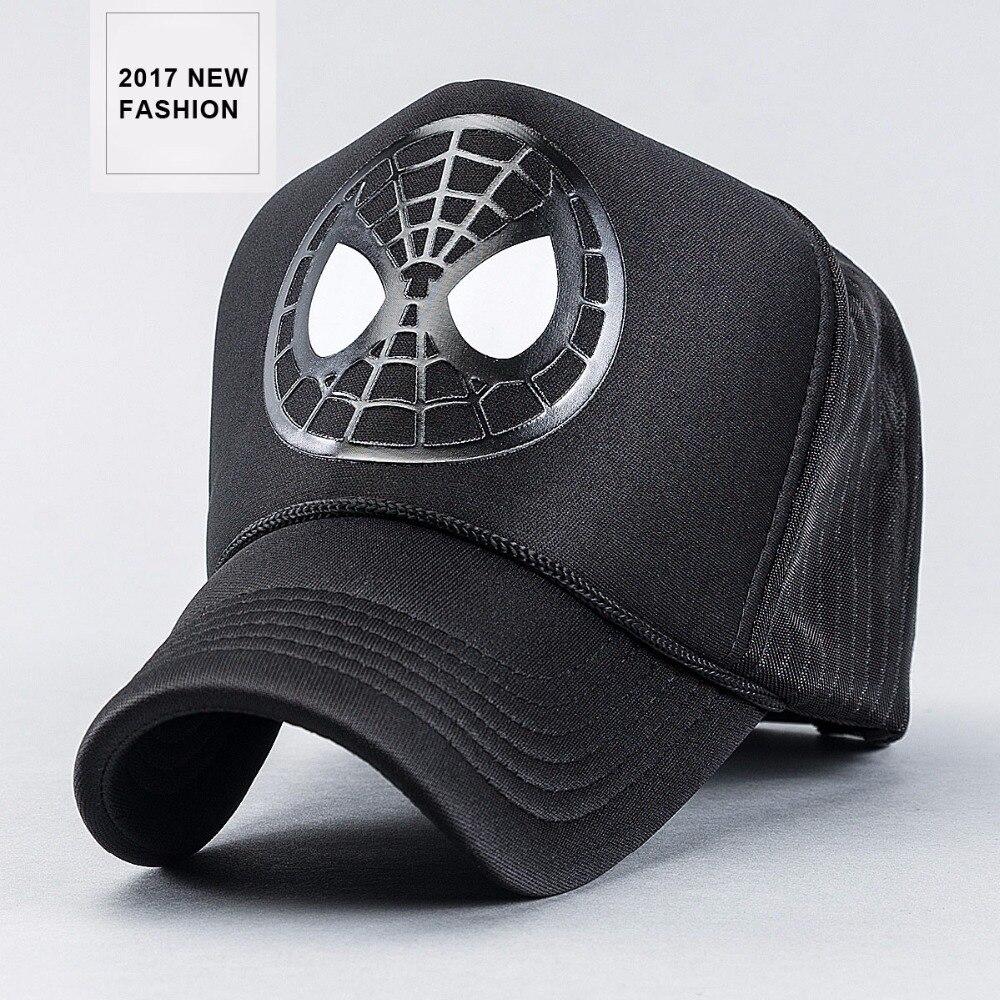 8042ea57 2017 New arrival spring summer spider print truckers caps for men ...