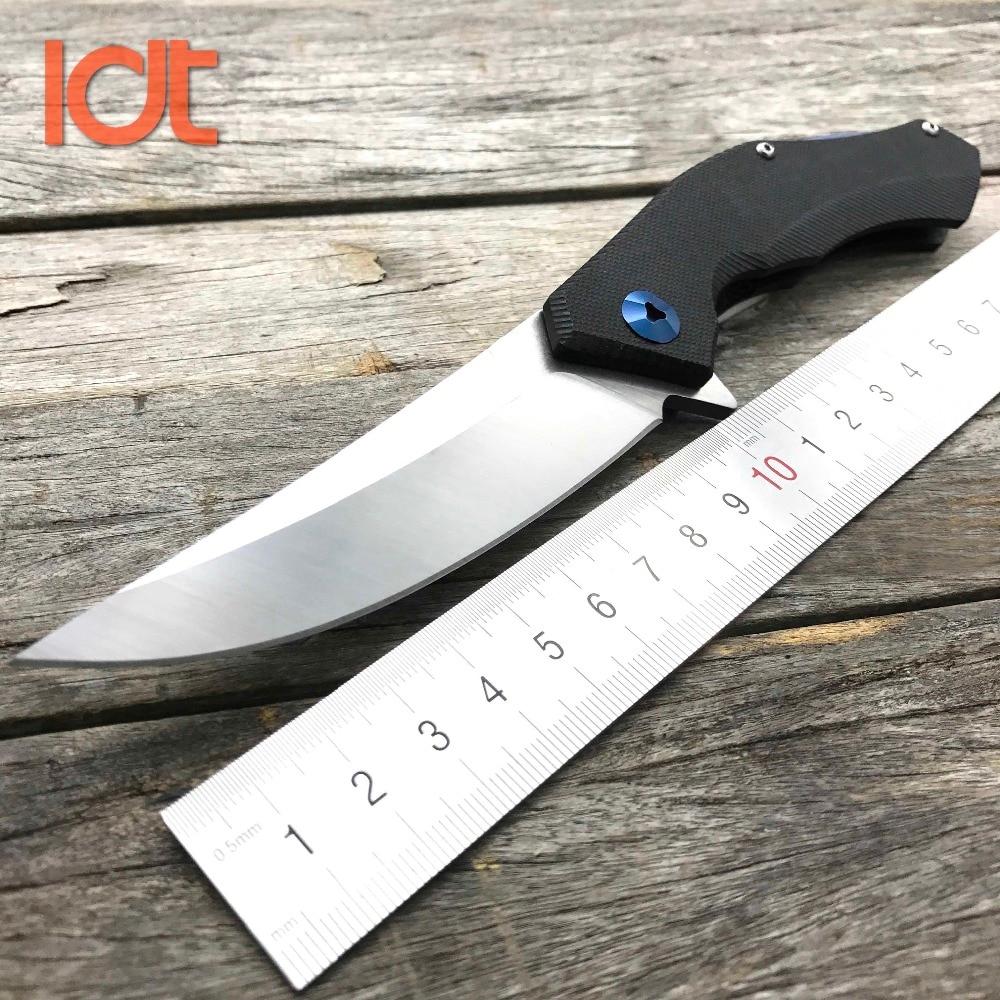 LDT Bear Blue Moon Cuchillo plegable D2 Blade G10 Mango Camping Caza Tactical Knives Pocket Outdoor Survival Rescue Knife Tools