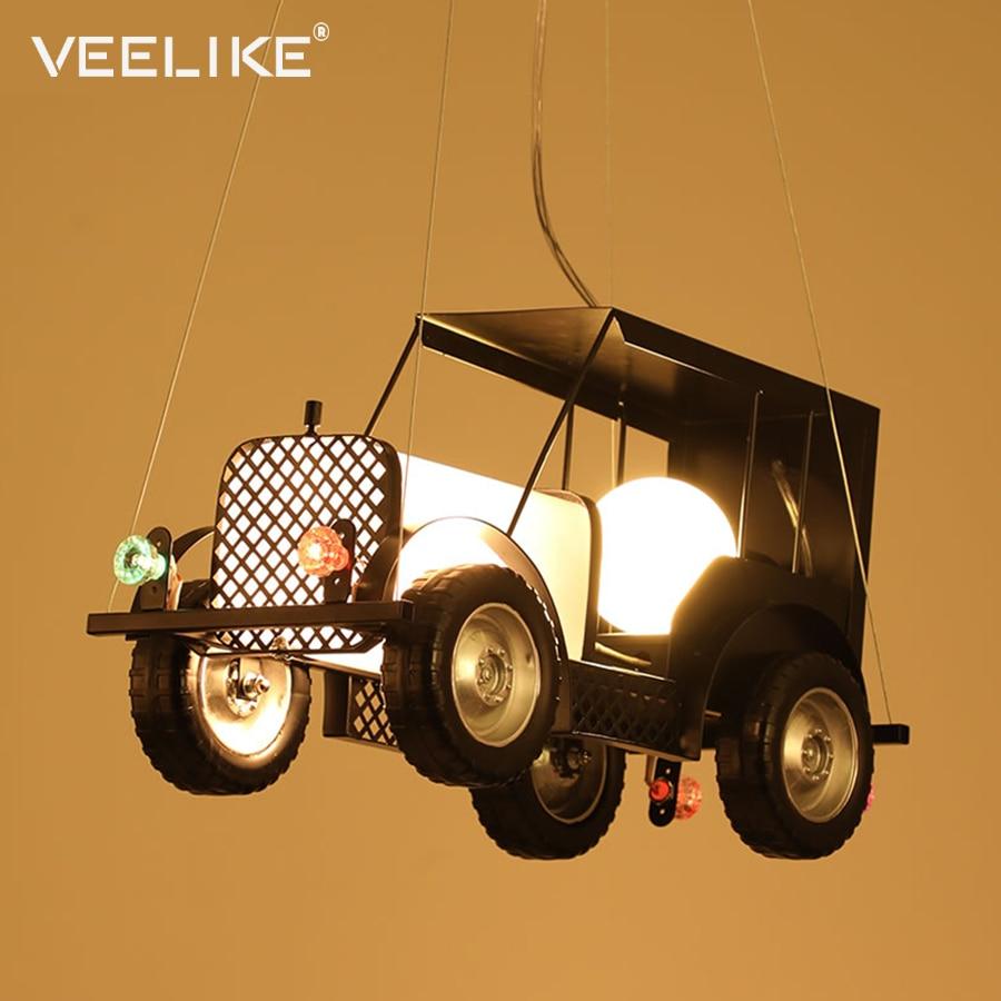 Ретро Ностальгический автомобильный подвесной светильник Промышленный стиль люстра креативная детская комната светодиодный кафе магазин