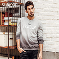 SIMWOOD New Autumn Winter Fashion Hoodies  Men 100% Cotton Sweatshirts Gradient color Brand Clothing WY8035