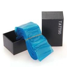 100Pcs/Box Blue Plastic Tattoo Clip Cord Sleeves Covers Bags Tattoo Accessories Supplies Permanent Makeup Tools Maquiagem
