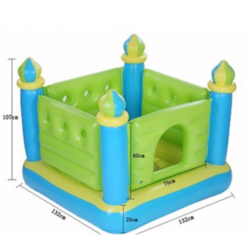 Small Inflatable Trampoline Castle Cartoon Indoor Outdoor Paradise Bounce Naughty Fort Creative Kids Gift Toy L1856