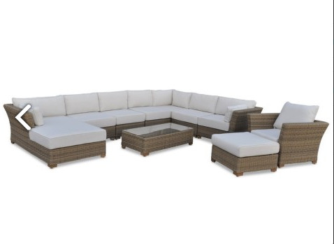 US $880.0 |Sigma luxury living outdoor furniture modular lounge setting  large sofa set-in Garden Sofas from Furniture on AliExpress