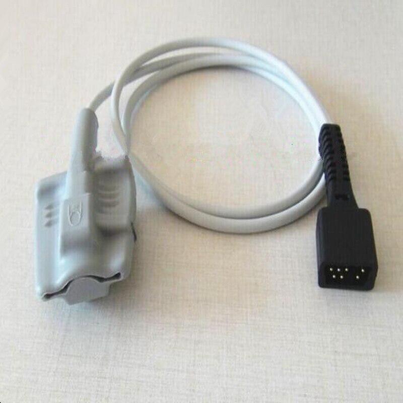 SPEDIZIONE GRATUITA Compatibile Per NONIN 2500/8500 DB7 PIN In Silicone Per Adulti Spo2 Sensore Ossimetro di Impulso della Spo2 Sonda Sonda di Ossigeno TPU 1 M