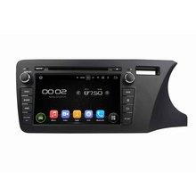 "8 ""octa-core Android 6.0 coche reproductor de DVD para Honda City 2014 derecha envío mapa video audio estéreo reproductores multimedia para coches"