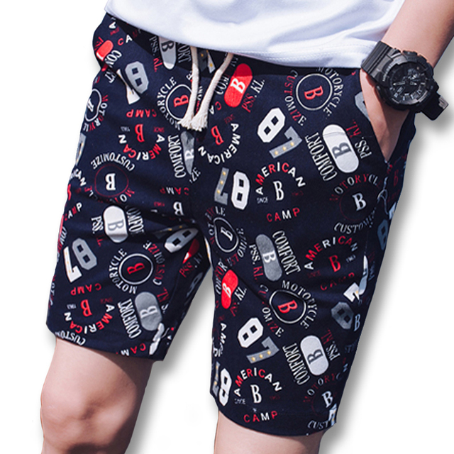 2017 Men Summer Board Shorts Bermuda Masculina Sweatpants Men's Casual Fashion Slim Fits Knee Length Active Beach Shorts Outwear