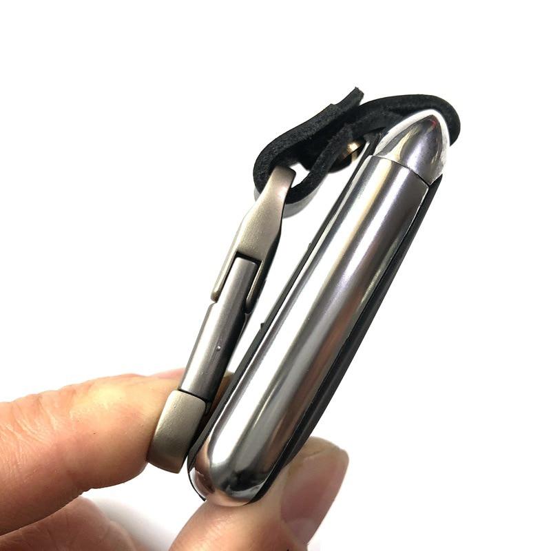 New Genuine Cow Leather Smart Key Organizer Wallet DIY Keychain EDC Pocket Fit