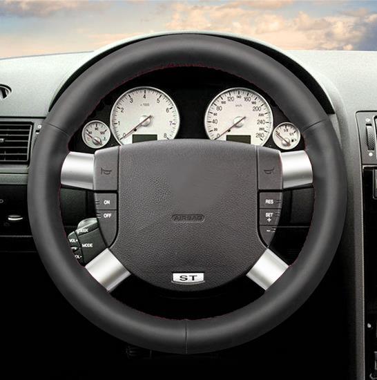 Couvre-volant de voiture cousu main en cuir noir pour Volkswagen Golf 4 Passat B5 1996-2003 polo 199-2002