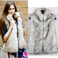 Plus Size S XXXXLWomen Faux Fur Vest Casacos Femininos De Pele Winter Autumn Waistcoat Blaser Feminino 2016 Fashion Outwear