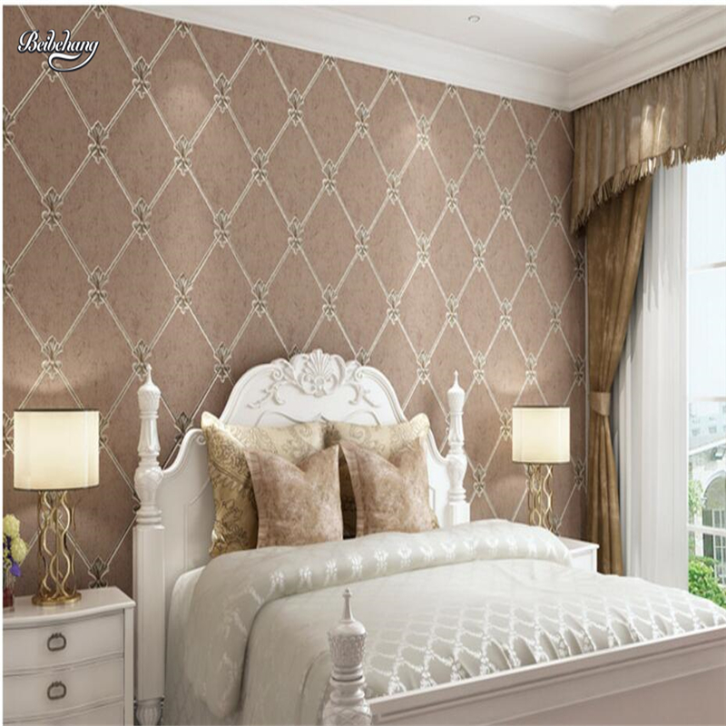 Beibehang 3d Modern Modern Luxury European Rhombus Soft