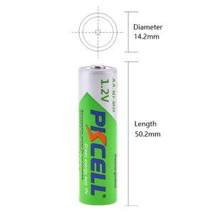Image 3 - Pkcell 2 個aa 2200 3000mahのバッテリー + 2 個aaa 1.2v低自己放電ニッケル水素aaa充電式電池 + 1 個aa/aaa電池ボックス