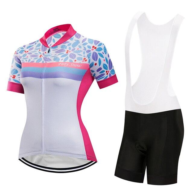 8c07589ad8fe Camiseta de ciclismo para mujer conjunto ropa bicicleta mtb equipo  profesional uniforme triatlón vestido deportivo verano marca china  carretera Tops ...