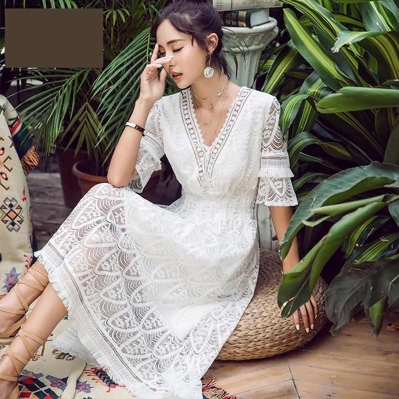 Модные костюмы элегантное белое платье женские кружевные платья самый