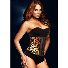 Animal Printed Natural Latex Corset Waist Cincher High Fashion Vintage Style Colorful Leopard Underbust Bodyshaper