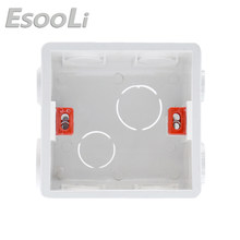 Esooli Mounting Box for 86*86mm Wall Touch Switch and Socket Cassette Universal White Wall Back Junction Box(China)