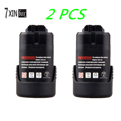 2 PCS for Bosch 10 8V 2000mAh Rechargeable Battery Pack Power Tool Li ion Battery for