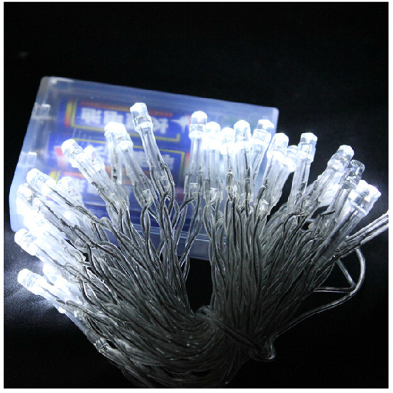 50 LED-batteridrivna LED-stränglampor för Xmas Garland Party - Festlig belysning - Foto 3