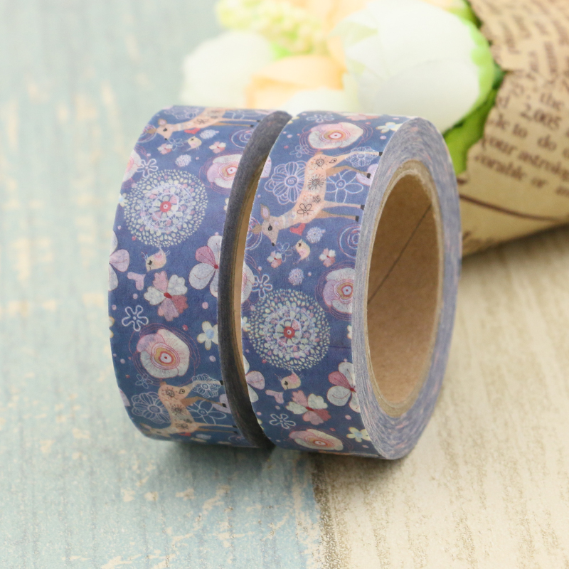 New Arrival 15MM*10M Christmas Unicorn Cactus Fox Print Adhesive Washi Tape Office Supplly DIY Sticker Masking Tape Paper Tape gw0035 12 10m automotive adhesive tape