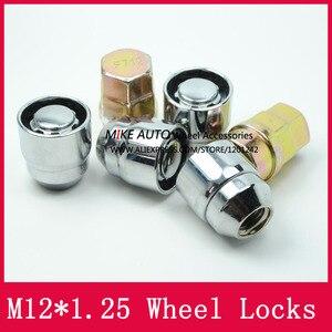 Image 5 - 4 אגוזים + 2 מפתחות M12x1.25 1.25 גלגל אגוזי נעל מנעולי אבטחה נגד גניבת אגוז Fit עבור ניסן Teana Bulebird sylphy הקאשקאי LS010 06