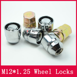 Image 5 - 4Nuts+2keys M12x1.25 1.25 Wheel Locks Lug Nuts Anti theft Security Nut Fit For Nissan Teana Bulebird Sylphy Qashqai  LS010 06