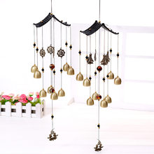 Nordic Decoration Home Wind Chimes Hanging Decorations Metal Copper Bell Wind Chime Decoration Crafts Gifts Kids Room Decoration(China)
