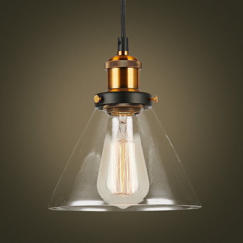 Buy loft vintage glass pendant lights for Nachttischlampe vintage