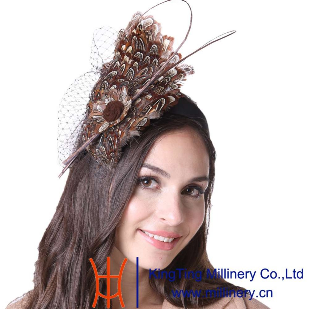 June's Young Feather Fascinator Hats Cocktail Party For Women Headwear With Headband  Special Designer High Quality Accessories books with style the cocktail party
