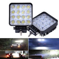2Pcs Dc 12v 24v LED DRL 48W Car LED Work Light Bar Square Flood LED Worklight