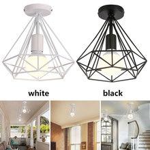 סלון שקוע תקרת אורות E27 סקנדינבי מינימליסטי סלון נברשת חלומי HangLamp שינה רטרו תליית מנורה
