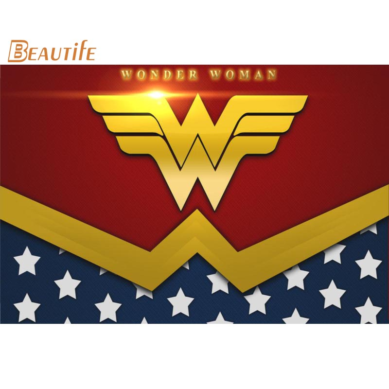 Custom wonder woman <font><b>logo</b></font> <font><b>Poster</b></font> Home Decoration Fashion Silk Fabric Wall <font><b>Poster</b></font> Custom <font><b>Poster</b></font> Print More Size image