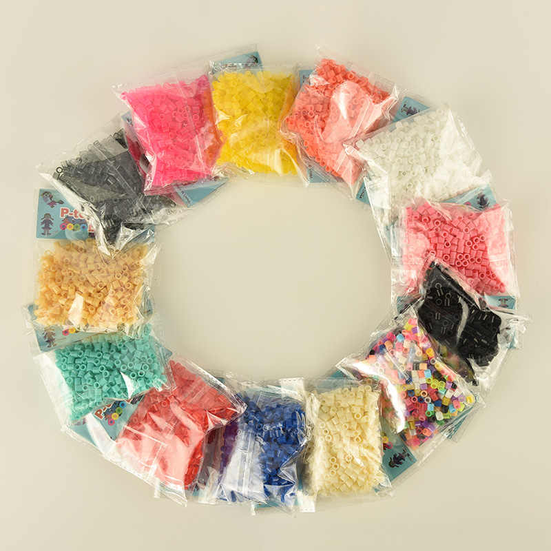 500 pcs pack 5mm Hama Beads/ Perler Beads *GREAT KID FUN.Diy Intelligence Educational Toys Craft Puzzles3D Puzzle Perler Beads