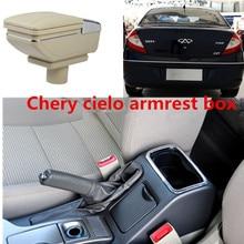 Для Chery cielo подлокотник коробка центральный хранить содержимое коробки с подстаканником пепельница украшения с интерфейсом USB A3 M11 подлокотник