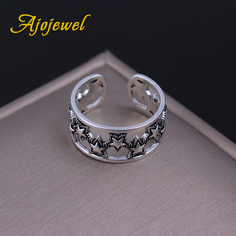 Ajojewel New Design Start Rings Open Hollow Out Vintage Jewelry 2017