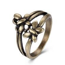 b9fe119c300a JEXXI nueva de encontrar a las mujeres anillo de bronce mariposa de moda en  forma de anillo hueco estilo Retro para hombres dama.