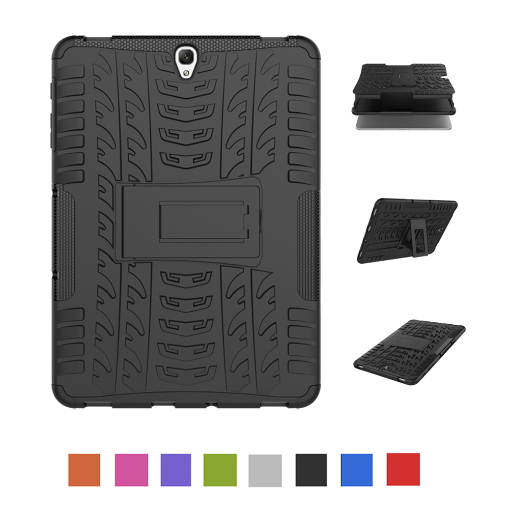Case For Samsung Galaxy Tab S3 9.7 T820 T825 Shockproof Armor Hard PC With Silicon Tablets Books Case Cover Shell
