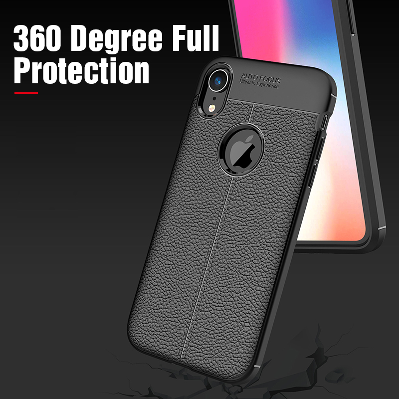 Carbon Silicone Case For iPhone Xs Xs Max Case 360 Luxury Leather Soft TPU Case For iPhone Xr Xs Max X 10 Case Coque             (7)